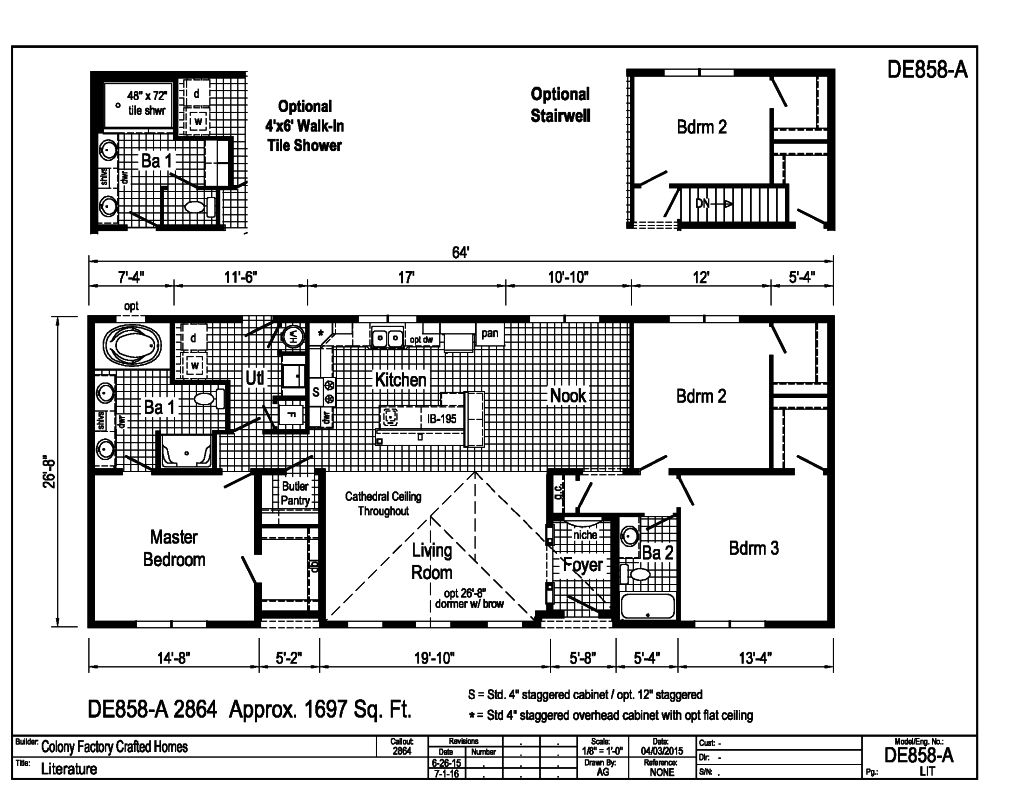 Floor plans 1500 1700 sq ft House plans less than 1500 square feet