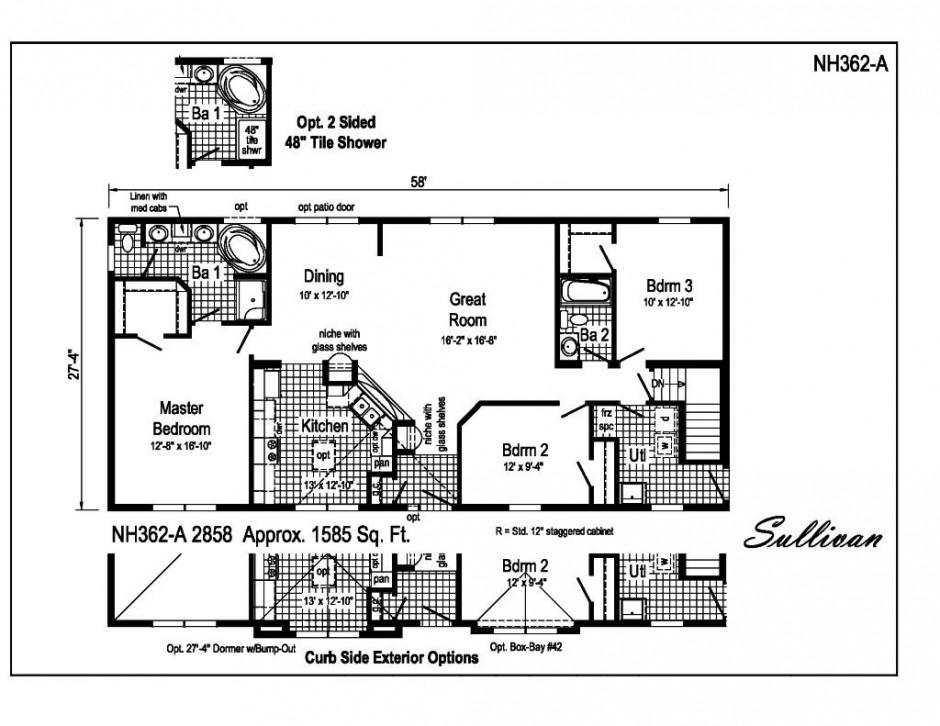 Floor plans 1500 1700 sq ft for 1700 sq ft house plans